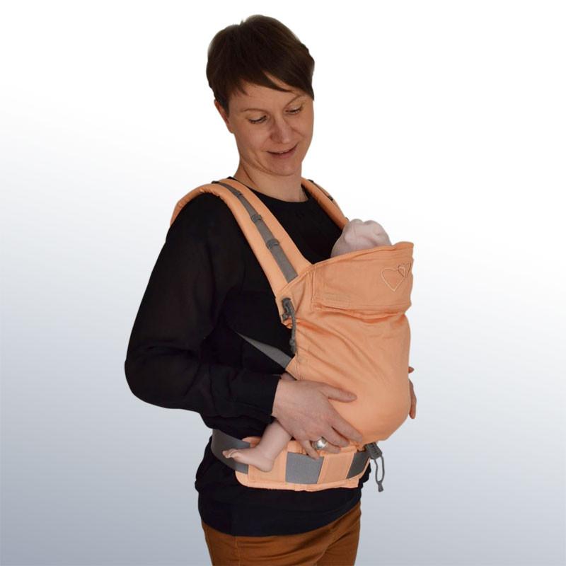 b0e0a2aa8c2 Ling Ling d Amour P4 Babysize Abricot - Porte-bébé