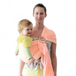 Ring sling Abricot Ling Ling d'Amour