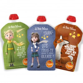 3 water bottles reusable Squiz the little prince's IMAGINATION