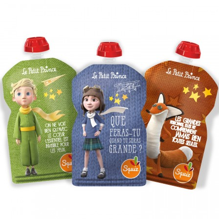 3 water bottles reusable Squiz the little prince's IMAGINATION