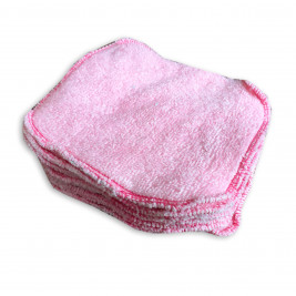 Wipes organic cloth Naturiou bamboo pink