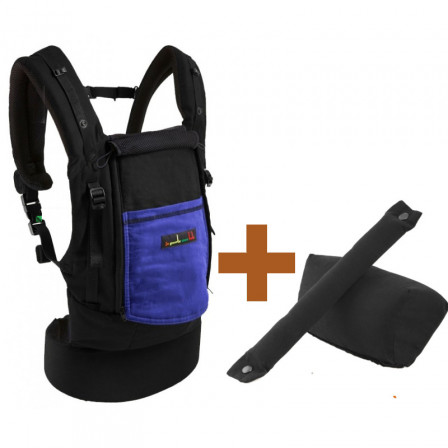 Pack PhysioCarrier JPMBB Coton Noir poche Iris