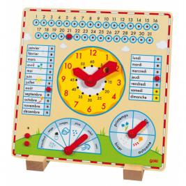 Clock-calendar-wood Goki