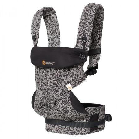 Porte-bébé Ergobaby 360 Keith Haring - Noir