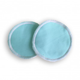 Nursing pads washable bamboo Naturiou blue