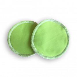 Coussinets d'allaitement lavables bambou Naturiou vert
