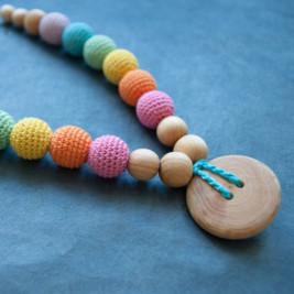 Double Aqua Rainbow Necklace, Jupiner Wood Kangaroocare