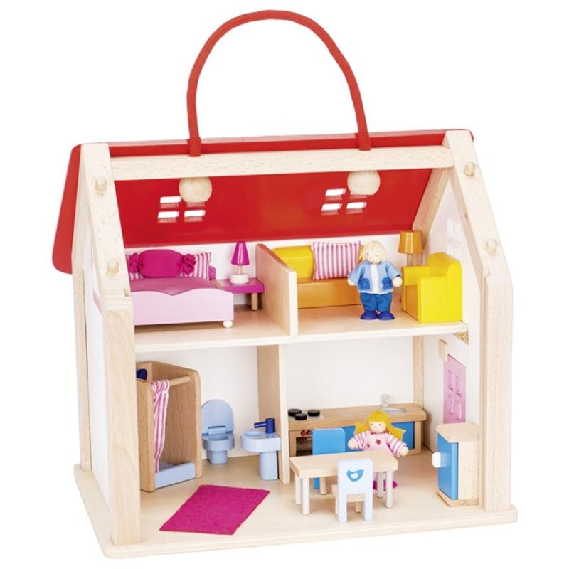 valise maison de poup es goki avec accessoires naturiou. Black Bedroom Furniture Sets. Home Design Ideas