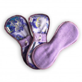 Serviettes Hygiéniques Lavables Naturiou Violette lot de 3