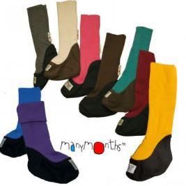 Chaussons de portage en pure laine Manymonts Violet