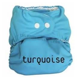 Couche lavable TE1 P'tits Dessous So Easy Turquoise sans insert