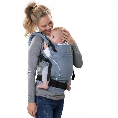 Baby Carrier Physiological Manduca Bellybutton WildCrosses Blue - Porte bebe manduca