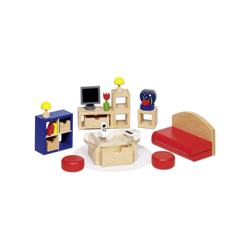 Furniture for dolls house goki living room Dolls wooden furniture