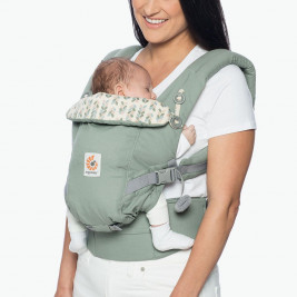 ccc0e953373 Baby carrier physiological Erbobaby Adapt sage Green