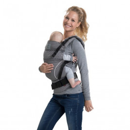 Porte bébé Manduca BellyButton WildCrosses Grey