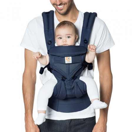 f75c4d34572 Baby Carrier Ergobaby Omni 360 Cool Air Mesh Blue Night-Ventilated  4-Position