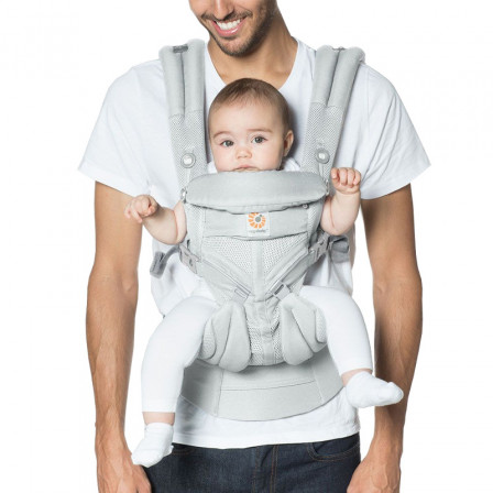 3bee9a93aaa Baby Carrier Ergobaby Omni 360 Cool Air Mesh Gray Pearl Performance  Ventilated