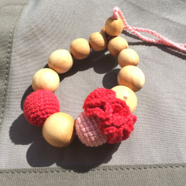 Bracelet teething Raspberry Kangaroocare