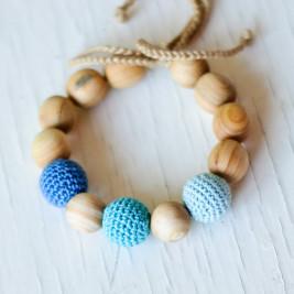 Bracelet de dentition 3 bleus Kangaroocare
