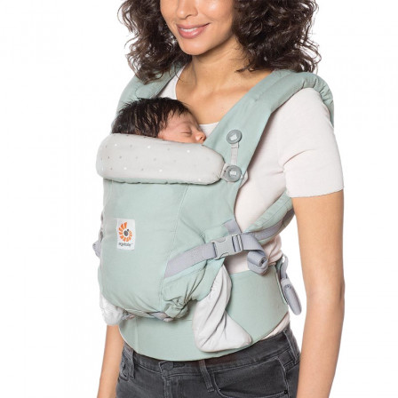 d9b3537f272 Ergobaby Adapt Mint Pea Silver Baby Carrier Physiological Newborn