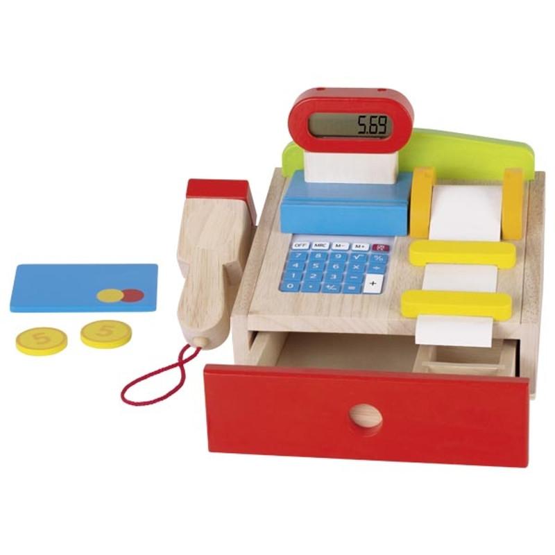 caisse enregistreuse picerie jouet bois goki 51575 calculatrice. Black Bedroom Furniture Sets. Home Design Ideas