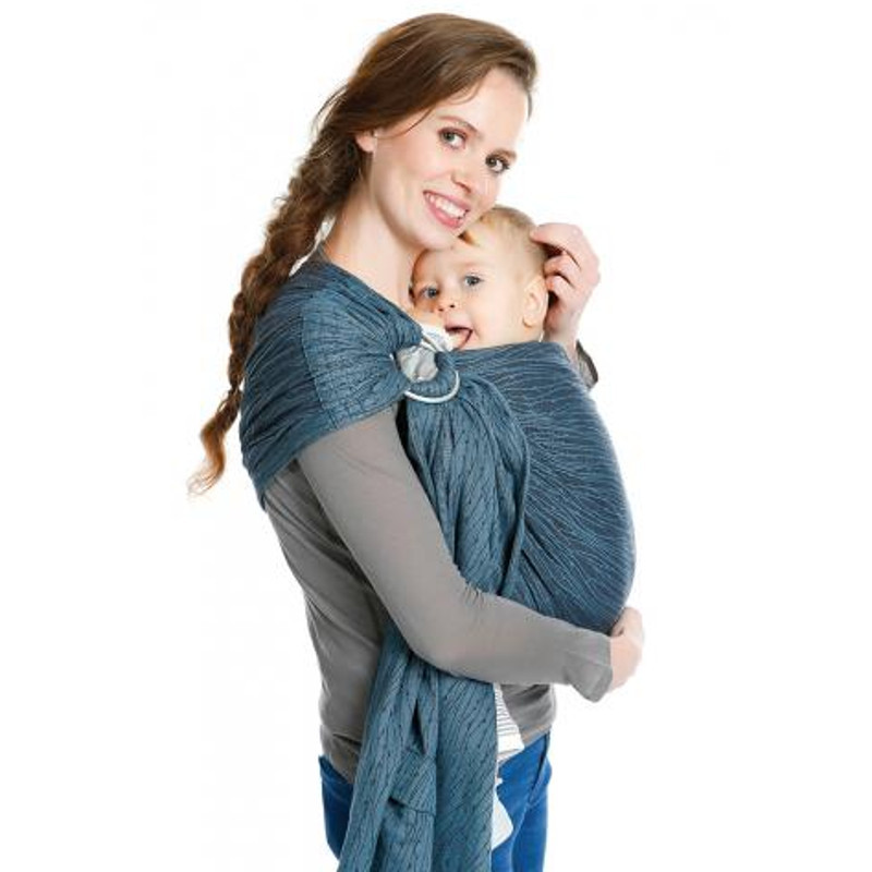 BB-Sling Babylonia Waterfall Blue Echarpe Portage Physiologique Sling f75eec78375