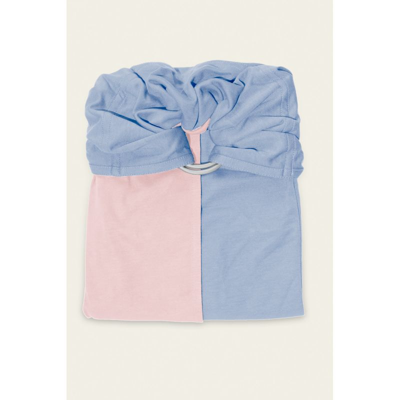 JPMBB Little no-tie Wrap Pink Balerina - Blue - Naturiou 693232c28e8