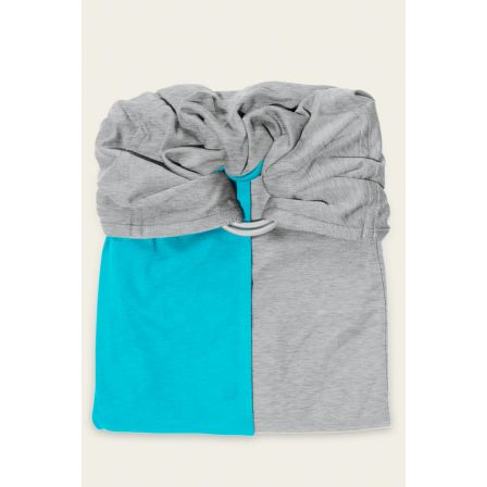 6d82f44199d8 Love Radius JPMBB Petite Écharpe Sans Noeud Turquoise Gris Chiné