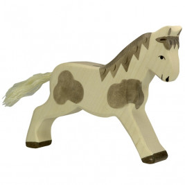Horse, Walking, Spotted wood by Goki