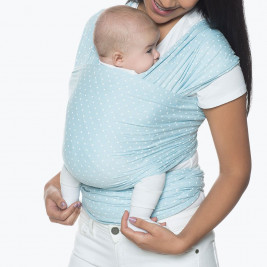 Echarpe de portage Ergobaby Aura Bleu Layette Pois Blanc