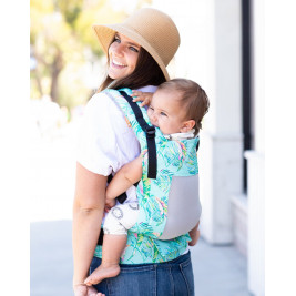 Baby carrier TULA Toddler Coast ELectric leaves