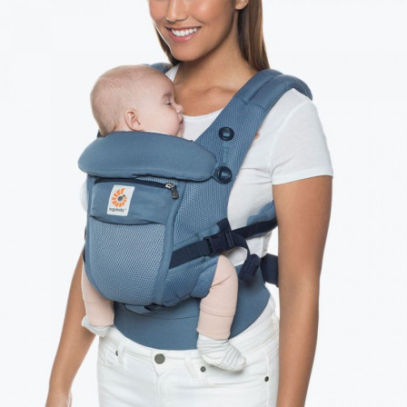 af3a4deceb0 Baby carrier physiological Adapt Cool Air Mesh Ergobaby Blue Grey