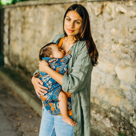 bf22ec2c39a ... Grey baby carrier physiological. Boba X Mademoiselle carrier  physiological