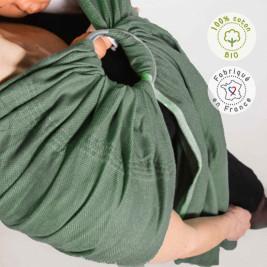 Néobulle Sling Vert Menthe coton bio - Écharpe de Portage Sling