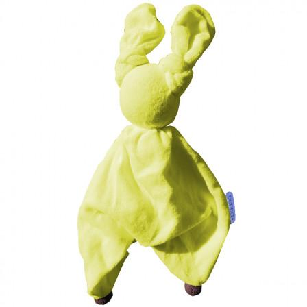 Doudou Coton Bio Floppy Peppa jaune anthracite