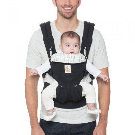 c18fd7de17d Ergobaby Omni 360 Black Stripes Downtown Baby Carrier All-In-One