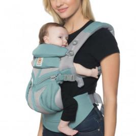 Ergobaby Omni 360 Cool Air Mesh Menthe - Porte-bébé Évolutif 4 Positions