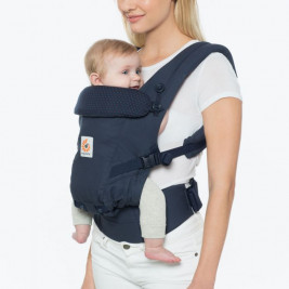 Ergobaby Adapt Navy Pea Pink baby carrier physiological