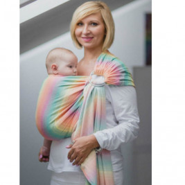 Lennylamb LITTLE HERRINGBONE IMAGINATION Ring Sling