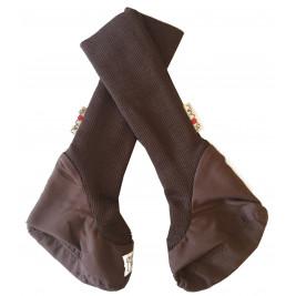 Chaussons de portage en pure laine Manymonts Chocolat