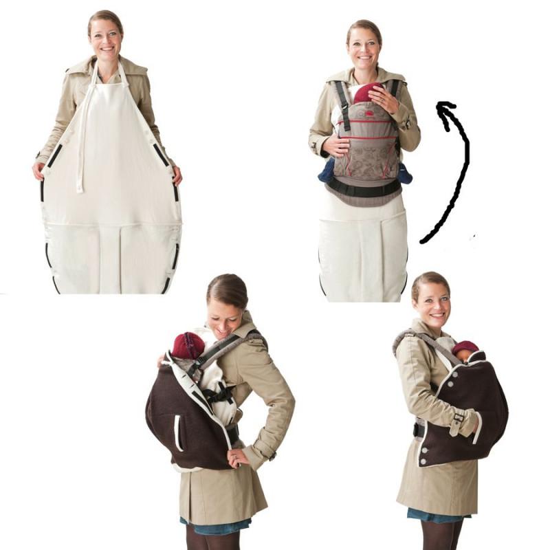 cd4150843fd3 ... Mamalila couverture de portage en laine 2 en 1 Aubergine  Fuchsia ...