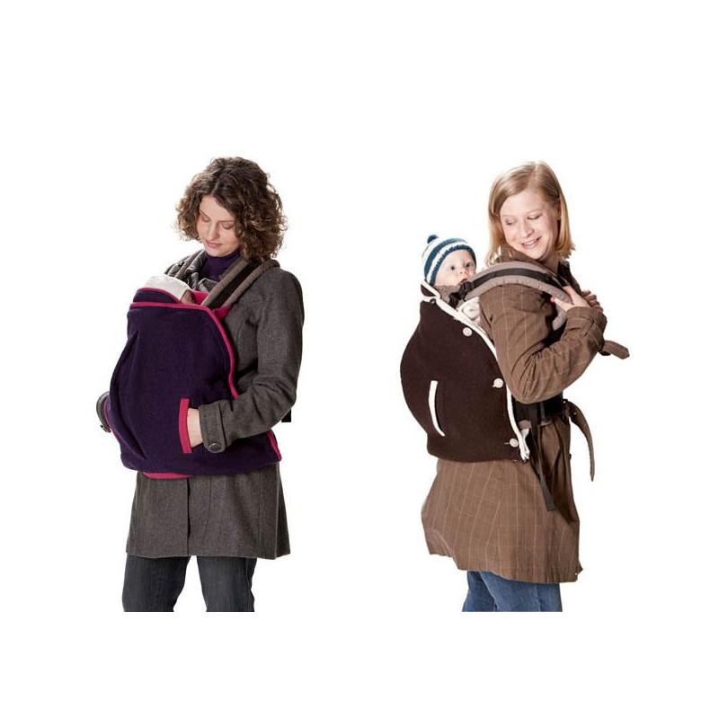 2ea18cfabbf5 ... Mamalila couverture de portage en laine 2 en 1 Aubergine  Fuchsia