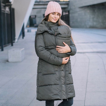 fc11997692703 Love And Carry Coat Babywearing And Pregnancy 3 In 1 Olive