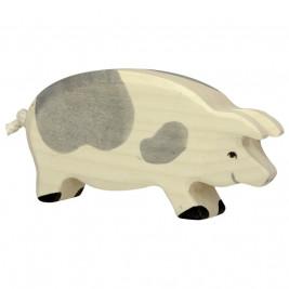 Cochon tacheté en bois Holztiger
