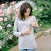 Love And Carry t-shirt de grossesse et allaitement imprimé gris clair