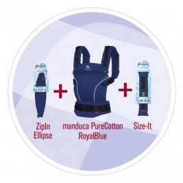 Manduca Complete Set Pure Cotton Royal Blue baby carrier