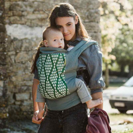 Boba Classic 4GS Organic Verde - Porte-bébé coton bio