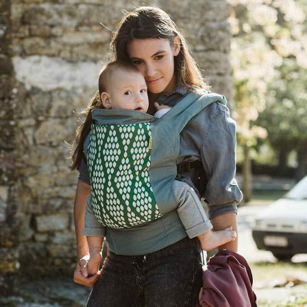 fb77a714cea Boba Classic 4GS Verde organic cotton best baby carrier physiological