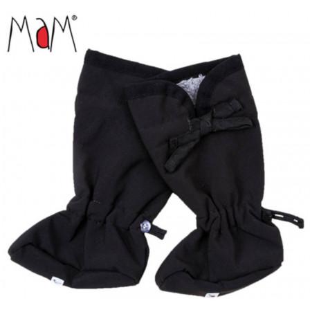 Manymonths chausssons de portage pour bébé Booties Softshell Black ... 334eeb6a29b