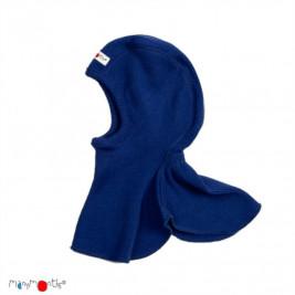 Manymonths cagoule bébé pure laine mérinos Bleu Roi